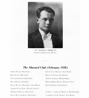Alfred J Morgan, Founder Conductor