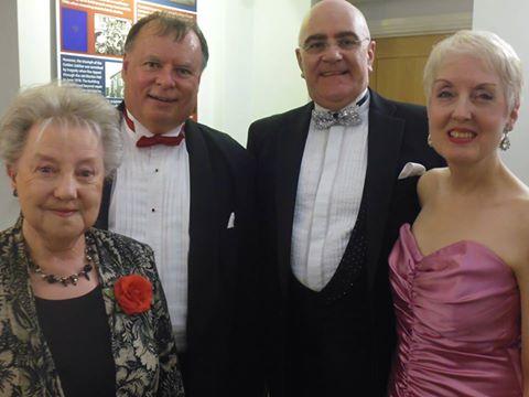 """Left to right: Jennifer Jones MBE, John """"The Maestro"""" Asquith, Tony and Sally Kingsbury"""